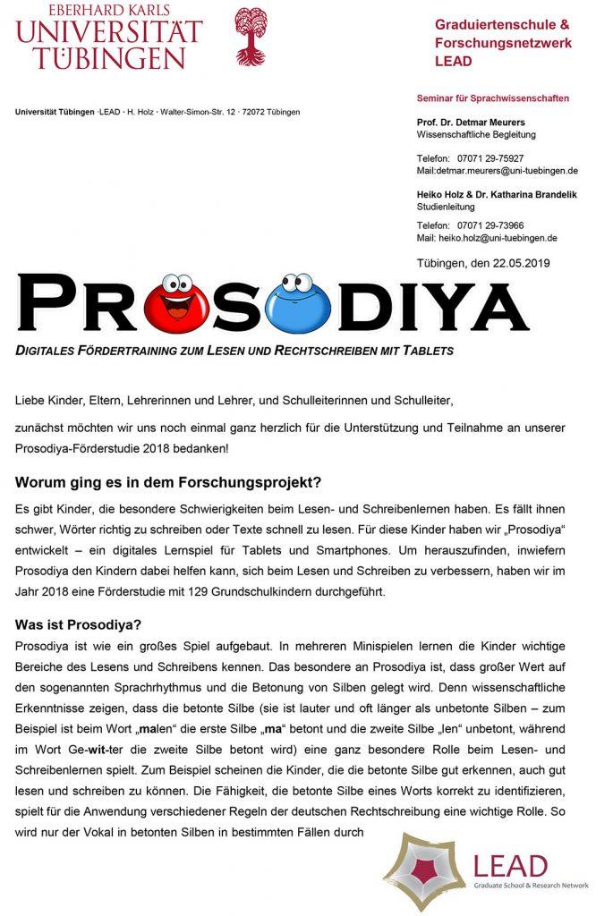 Ergebnisse der Prosodiya-Förderstudie